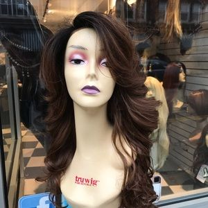 Accessories - Wig Long ombré warm brown 13x6 long curly New Wig